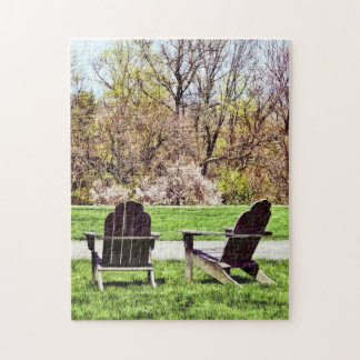 Adirondack Chairs In Spring Jigsaw Puzzle
