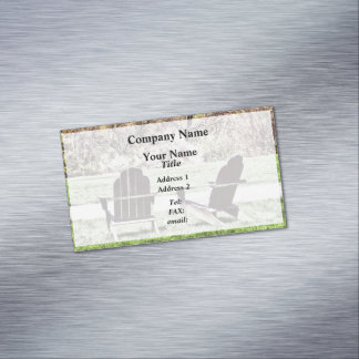 Adirondack Chairs In Spring Magnetic Business Cards