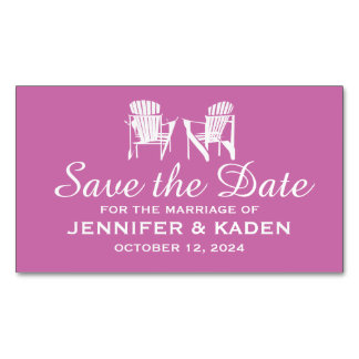 Adirondack Chairs ORCHID | Save the Date Magnetic Business Cards