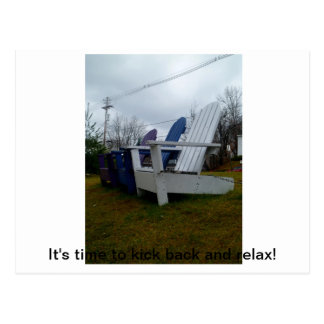 Adirondack chairs postcard