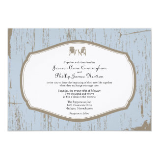 Adirondack Chairs Rustic Wedding 13 Cm X 18 Cm Invitation Card