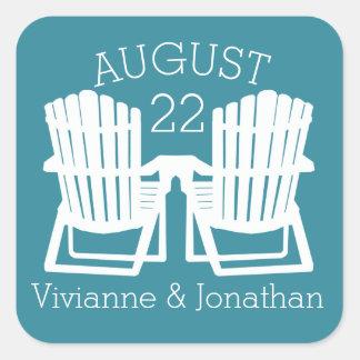 Adirondack Chairs Square Sticker