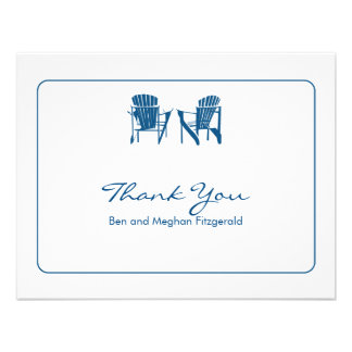 Adirondack Chairs Thank You Custom Invitation