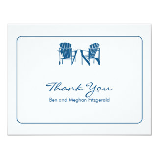 Adirondack Chairs Thank You 4.25x5.5 Paper Invitation Card