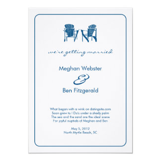 Adirondack Chairs Wedding Announcement