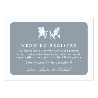 Adirondack Chairs | Wedding Bridal Gift Registry Pack Of Chubby Business Cards