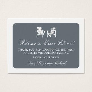 Adirondack Chairs   Wedding Favor Tag