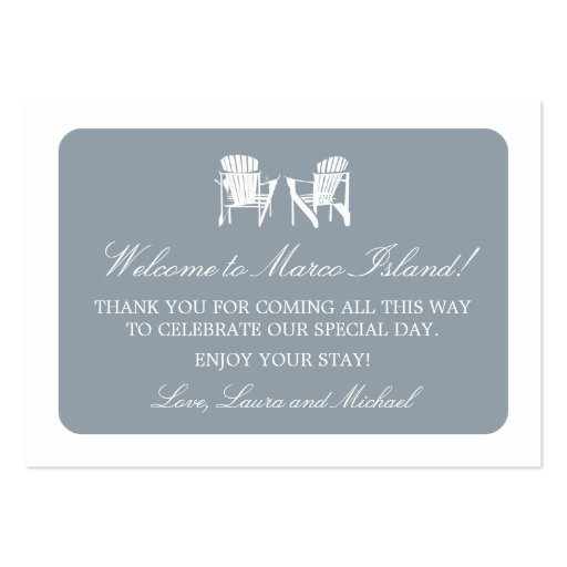 Adirondack Chairs   Wedding Favor Tag Business Card Template