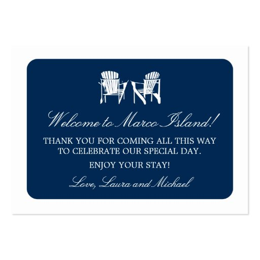 Adirondack Chairs   Wedding Favor Tag Business Cards