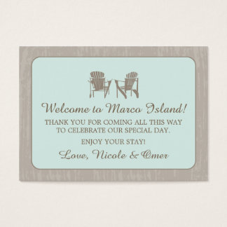 Adirondack Chairs | Wedding Favor Tag Business Card