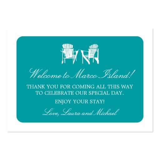 Adirondack Chairs   Wedding Favor Tag Business Card Templates