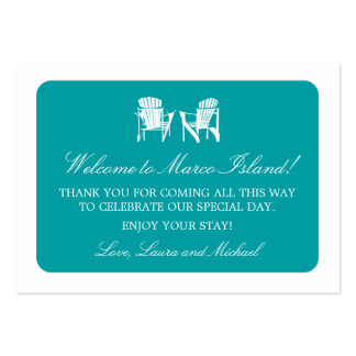 Adirondack Chairs | Wedding Favor Tag Pack Of Chubby Business Cards