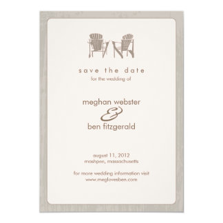 Adirondack chairs Wedding Save the Date 13 Cm X 18 Cm Invitation Card