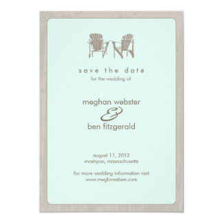 Adirondack Chairs Wedding Save the Date 13 Cm X 18 Cm Invitation Card