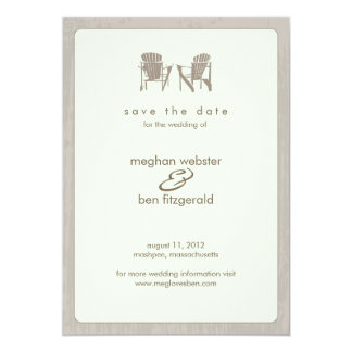Adirondack Chairs Wedding Save the Date Card