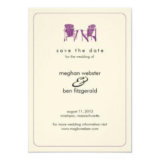 Adirondack Chairs Wedding Save the Date Invitation