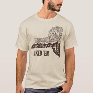 Adirondack High Peaks Hiked T-Shirt (Brown Logo)
