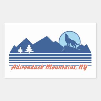 Adirondack Mountains NY Rectangular Sticker