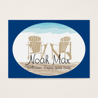 Adirondack  Welcome Tag Business Card