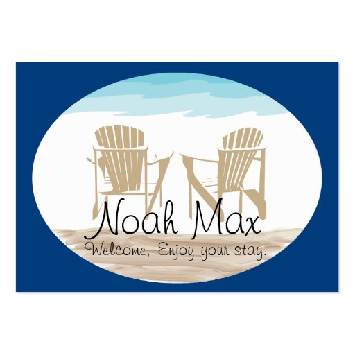 Adirondack  Welcome Tag Business Cards