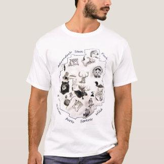 adirondack wildlife drawings T-Shirt