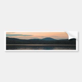 Adirondacks Long Lake Sunset Bumper Stickers