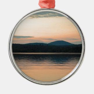 Adirondacks Long Lake Sunset Metal Ornament