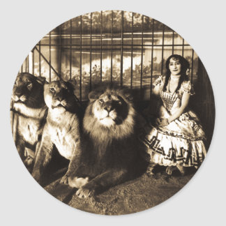 Adjie and the Lions 1899 Classic Round Sticker