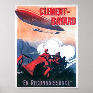 Adjudant Vincenot WWI Airship Promotional Poster