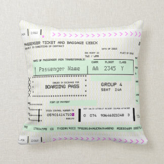 Adjust This Airline Boarding Ticket Cushion