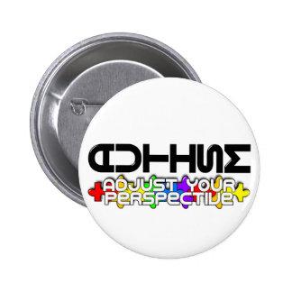 Adjust Your Perspective 6 Cm Round Badge