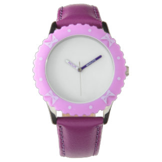 Adjustable Bezel, Stainless Steel Purple Watch