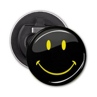 Adjustable Color Neon Black Happy Face Bottle Opener