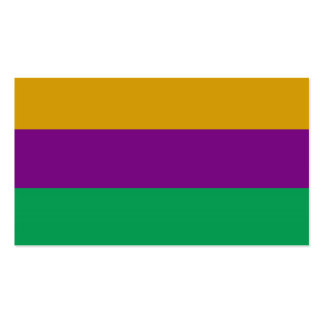 ADJUSTABLE Mardi Gras Green & Purple Business Card