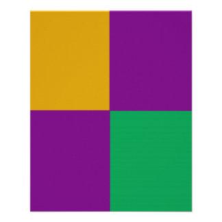 ADJUSTABLE Mardi Gras Green & Purple Flyer