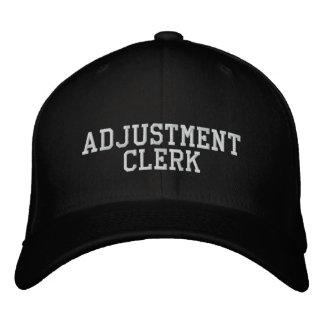Adjustment Clerk Embroidered Cap