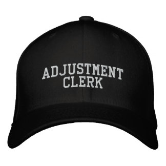 Adjustment Clerk Embroidered Baseball Caps