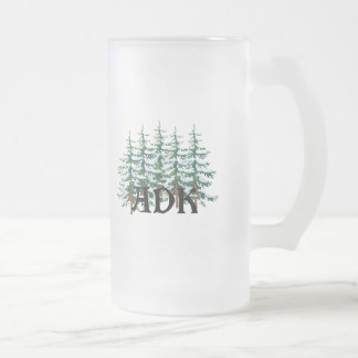 ADK Adirondack Pines Frosted Glass Beer Mug