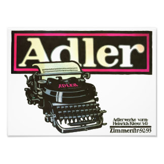 Adler Typewriters Vintage Advertising Print Photographic Print