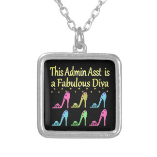 ADMIN ASST SHOE LOVER DESIGN SILVER PLATED NECKLACE