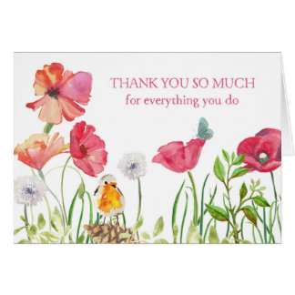 Admin Professionals Day Card - Watercolor Flowers