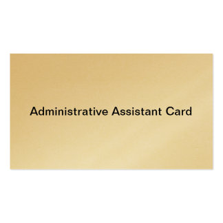 Administrative Assistant card Business Card