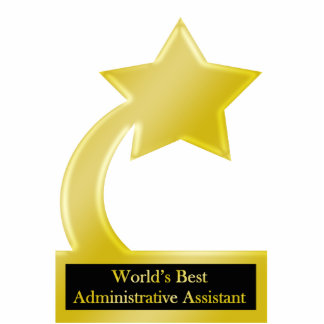 Administrative Assistant, Gold Star Award Trophy Standing Photo Sculpture