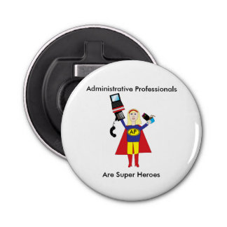 Administrative Professional Super Hero (Blonde) Bottle Opener