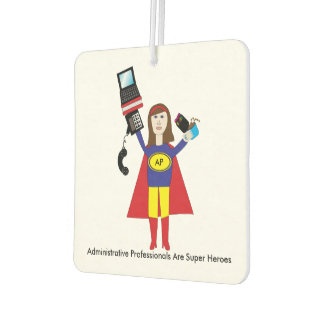 Administrative Professional Super Hero (Brunette)