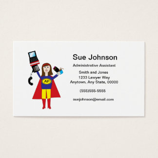 Administrative Professional Super Hero Business Business Card