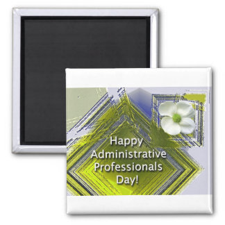 Administrative Professionals Day White Floral Magnet