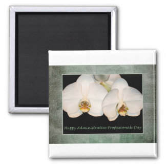 Administrative Professionals Day White Orchids Magnet