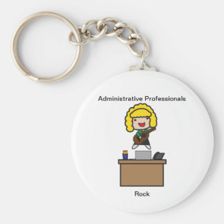 Administrative Professionals Rock (Blonde) Key Ring