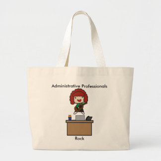 Administrative Professionals Rock (Red Haired) Jumbo Tote Bag